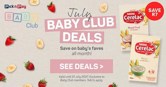 July Baby Club deals. See deals >