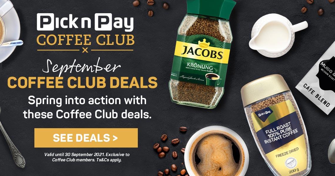 September Coffee Club Deals. See deals >